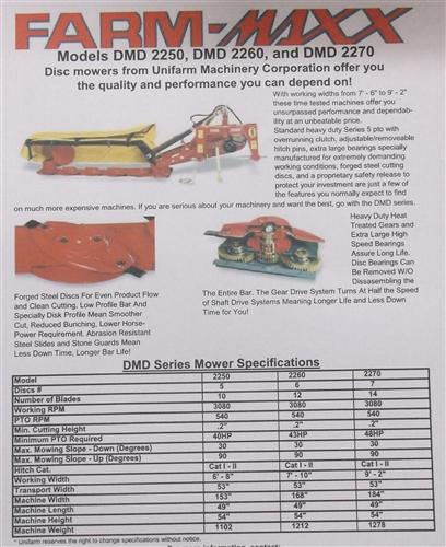 New 7 Ft Fort/FarmMaxx Disc Mower 2050