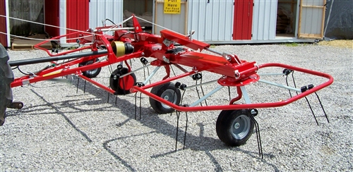 New Enrossi / Farm King (19 ft ) Hay Tedder with Hydraulic Fold Wings and  Hydraulic Tilt