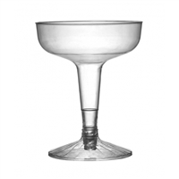 Fineline FL2104 4 oz 2-piece Disposable Plastic Champagne Glasses, Case of 360