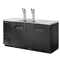 True TDD-3-HC Draft Beer Cooler, 3 Keg Capacity, 70""