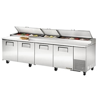 "True TPP-119 Refrigerated Pizza Prep Table, 119"", Four Section"