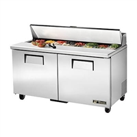 "True TSSU-60-16-HC Refrigerated Salad / Sandwich Table, 60"" , Two Section"