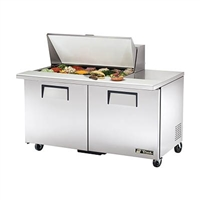 "True TSSU-60-18M-B-HC Refrigerated Salad / Sandwich Table,  60"" Mega Top, Two Section"