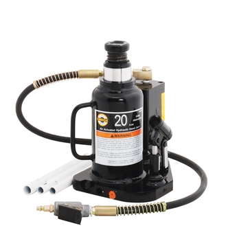 Omega 18204C - 20 Ton Hydraulic Air/Manual Bottle Jack, Welded