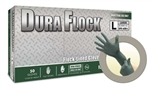 Micro Flex Dura Flock 8 mil Flock-lined Green Nitrile Glove - Large - 50/Box