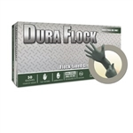 Micro Flex Dura Flock 8 mil Flock-lined Green Nitrile Glove - XL - 50/Box