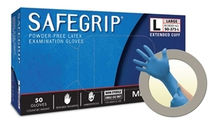Micro Flex SG375XL SafeGrip® Powder Free Latex Gloves - X Large - 50/Box
