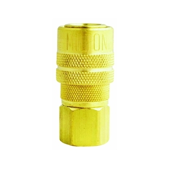 "Milton 1/4"" Female M Style Coupler"
