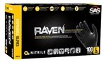 SAS Safety 66518 Raven™ Powder Free Black Nitrile Gloves - Large