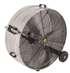 "J&D Manufacturing VI3612WG 36"" Galvanized Portable Drum Fan"
