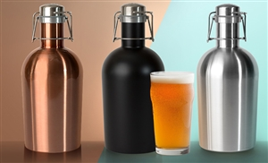 Stainless Steel Beer Growler 2 Go by ASOBU