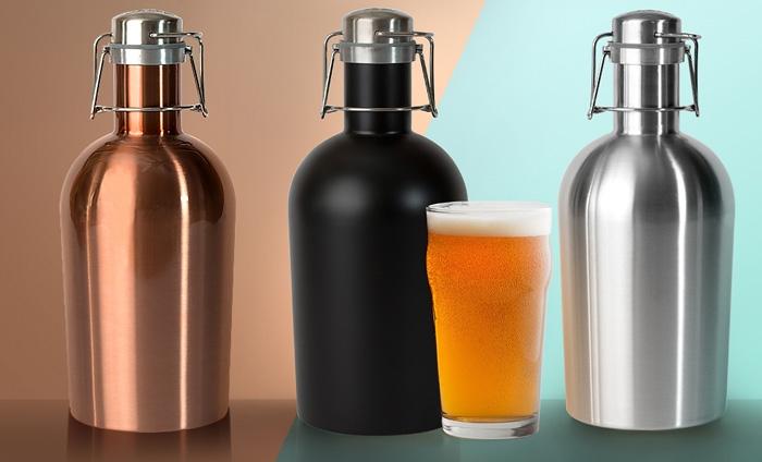 asobu stainless steel beer growler 2 go thewaterbottlestore com