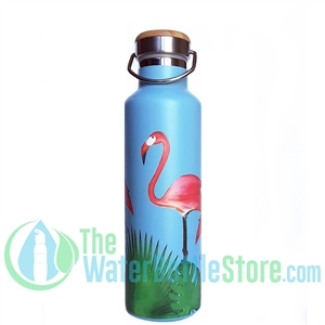 25oz 750ml Stainless Steel Insulated Water Bottle Flamingos by Beachcomber