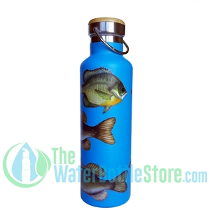 25oz 750ml Stainless Steel Insulated Water Bottle Freshwater Fish by Beachcomber