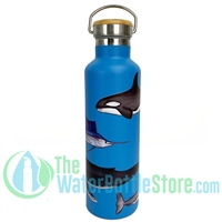 25oz 750ml Stainless Steel Insulated Water Bottle Sea Life by Beachcomber