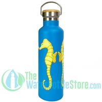 25oz 750ml Stainless Steel Insulated Water Bottle Seahorses by Beachcomber