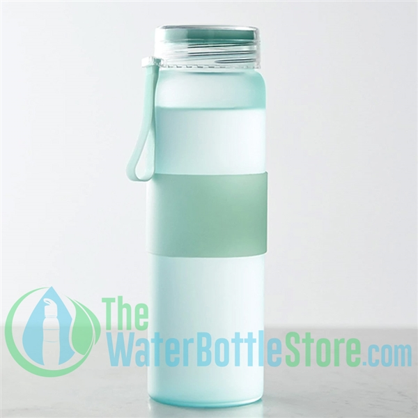 Boon Supply Frosted Glass Water Bottle Mint
