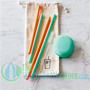 Boon Supply Set of 4 Silicone Reusable Straws