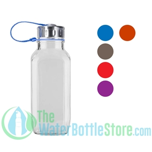 French Square Glass Water Bottle