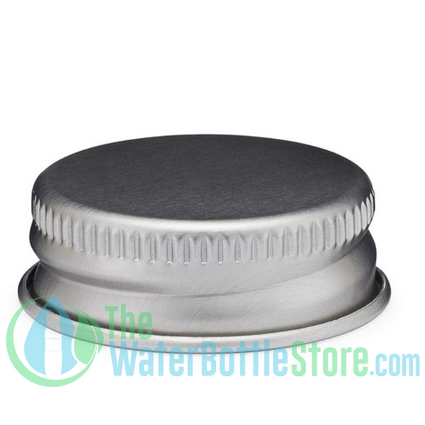 Replacement 28mm Silver Brushed Aluminum Screw Top Cap