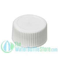 Replacement 28mm White Ribbed Matte Top Cap