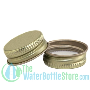 Replacement 28mm Gold Metal Lid Cap with Plastisol Liner