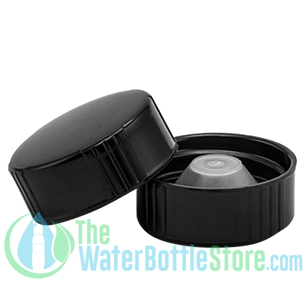 Replacement 28mm Black Phenolic Lid Cap with PolyCone Liner
