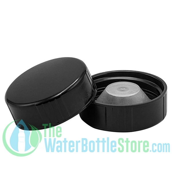 Replacement 33mm Black Phenolic Lid Cap with PolyCone Liner
