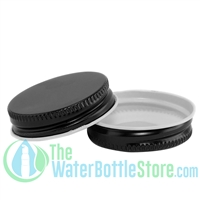 Replacement 38mm Black Metal Lid Cap with Plastisol Liner