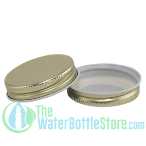 Replacement 43mm Gold Metal Lid Cap with Plastisol Liner