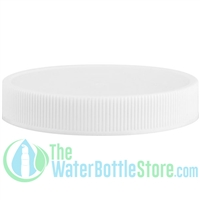 Replacement 63mm White Plastic Cap Top with FoilSeal Foam Liner