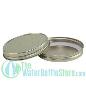 Replacement 63mm Gold Metal Lid Cap with Plastisol Liner