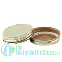 Replacement 70mm Gold Mason Jar Lid with Plastisol Button