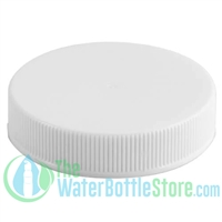 Replacement 48mm White Ribbed Plastic Cap/Top