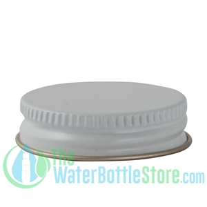 Replacement 38mm White Gold Metal Lid Cap with Plastisol Liner