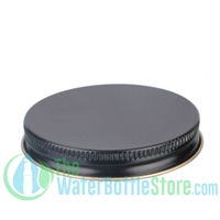 Replacement 63mm Black Gold Metal Lid Cap with Plastisol Liner