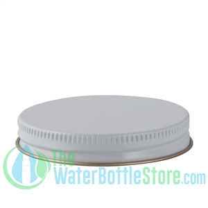 Replacement 63mm White Gold Metal Lid Cap with Plastisol Liner