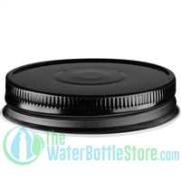 Replacement 70mm Black Mason Jar Lid with Plastisol Button