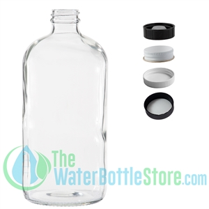 Clear Boston Round Glass Bottle