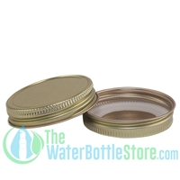 Replacement 48mm Gold Metal Lid Cap with Plastisol Liner