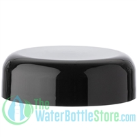 Replacement 48mm Black Dome Cap Unlined