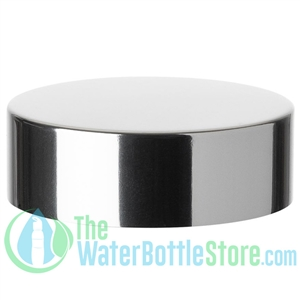 Replacement 58mm Shiny Silver Aluminum Plastic Cap