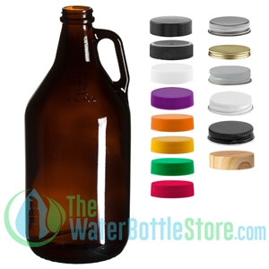 64oz Amber Glass Beer Growler