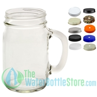Mason Jar Mug with Handle