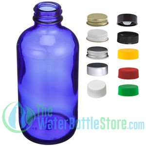 Cobalt Blue Boston Round Glass Bottle
