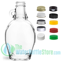 8oz Clear Glass Syrup Bottle