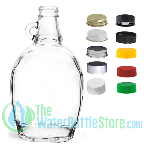 12oz Clear Glass Syrup Bottle