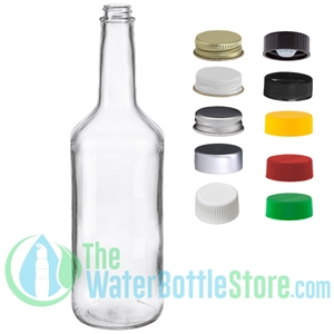 32oz Clear Glass Bar Mix Bottle