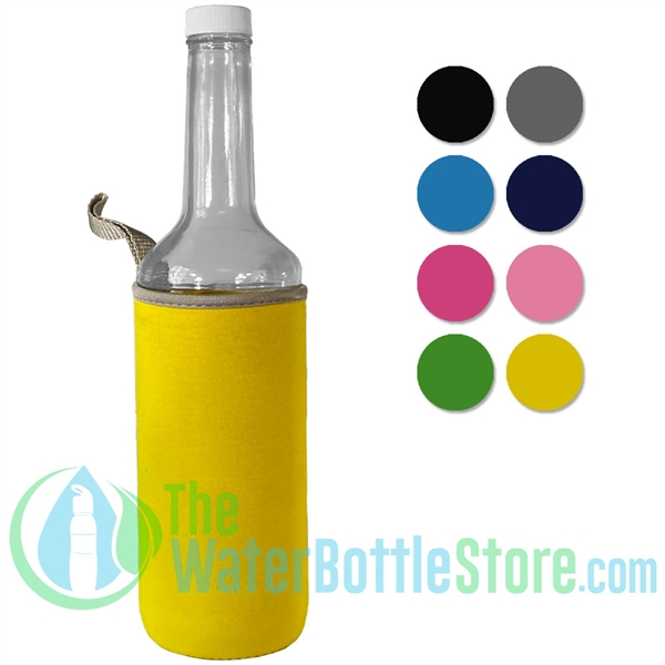 750ml Clear Glass Bar Mix Bottle with Neoprene Sleeve