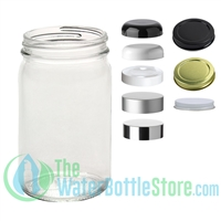 8oz Economy Clear Glass Jar